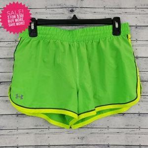 Under Armour Green Heat Gear Running Shorts Sz Sm